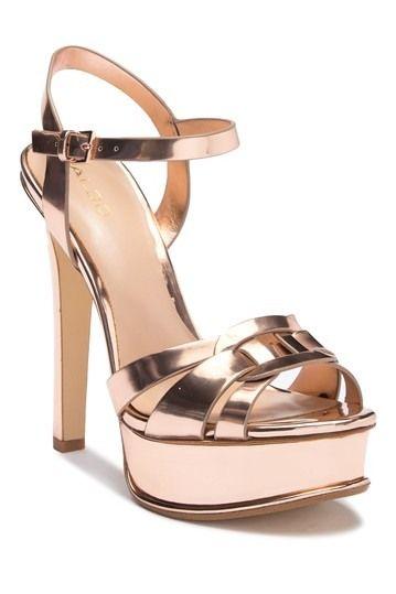 4062145fe1e Aldo | Villarotta Platform Pump | Footwear | Rose gold heels, Gold ...