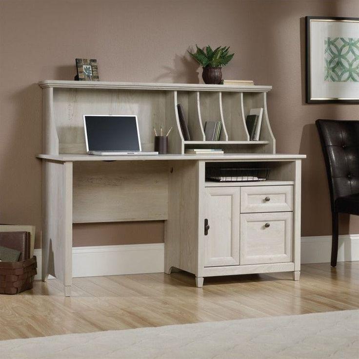 White desk with hutch, Office desk with hutch and Oak computer desk