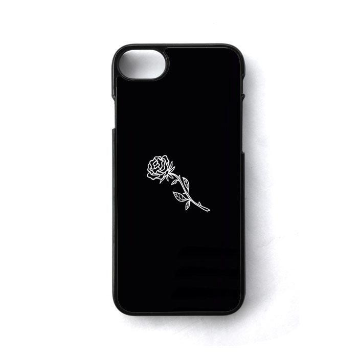 Black White Flower Rose Art Iphone 7 Case Casecortez Black Iphone 6 Case Ideas Of Black Iphone 6 Case Rose Phone Case Iphone 7 Cases Iphone 7 Cases Black