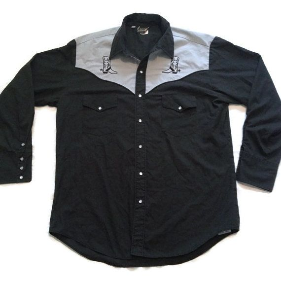 80's Country Western Collared Shirt / Rockabilly by RetroFreshTees, $25.00