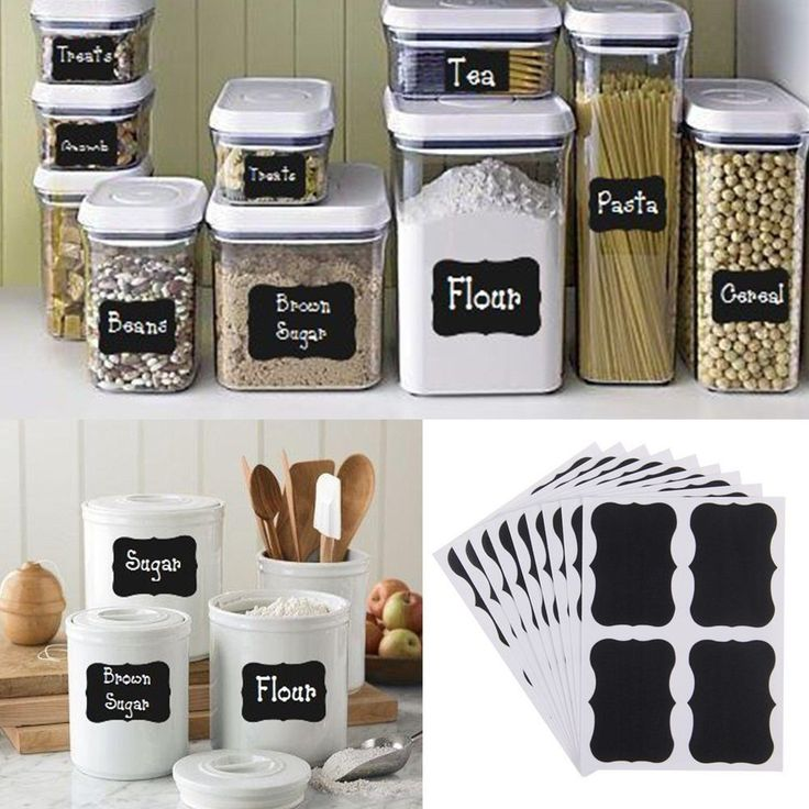 36pcs Chalkboard Blackboard Chalk Board Stickers Decals Craft Kitchen Jar Labels in Home & Garden, Home Décor, Decals, Stickers & Vinyl Art | eBay