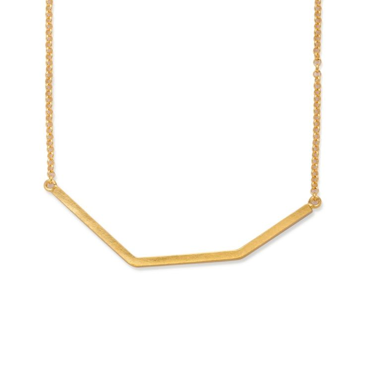 Silver and 24k gold plated necklace by Kasia Wójcik