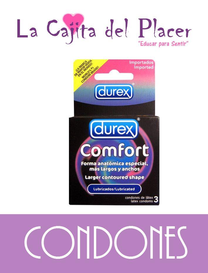Cartera de Condones marca DUREX COMFORT, una de las mejores marcas del mercado.  Condón que te permite tener mayor comodidad al momento de la penetración ya que es más holgado de lo ancho y largo, permitiendo mayor movilidad al interior del condón, así cómo mayor placer y seguridad para la pareja.  Precio Cajita: $45