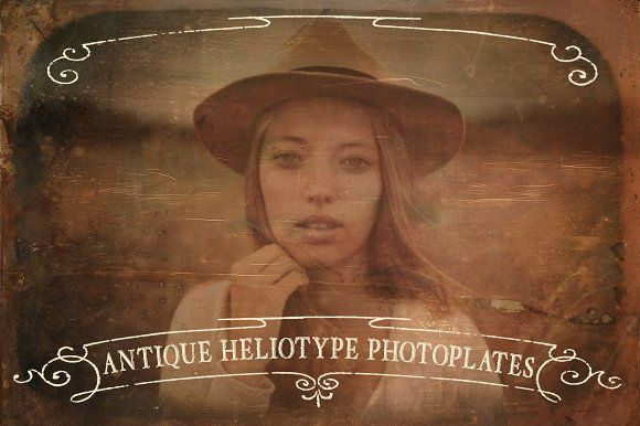 Antique Heliotype Photoplates by Blue Line Design on @creativemarket