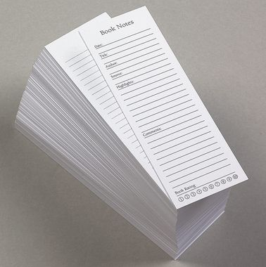 Awesome bookmarks help you take notes without writing in your books--love this idea!