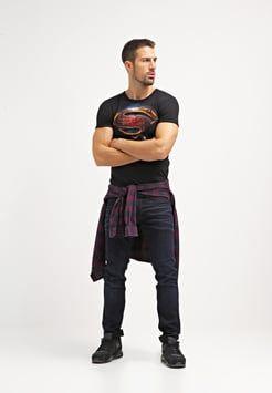 LOGOSHIRT - SUPERMAN - T-shirts med print - black