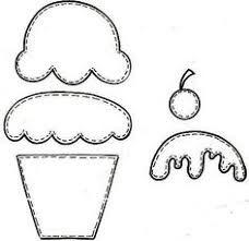 Resultado de imagem para molde cupcake em eva
