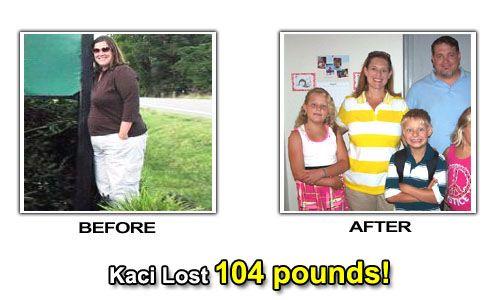 How Kaci lost 104 pounds