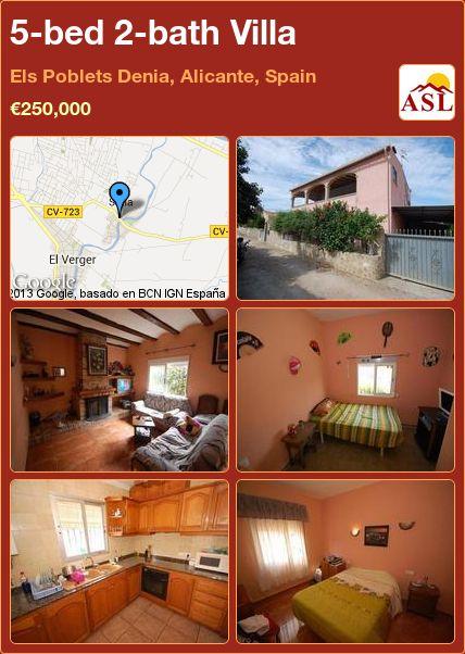 5-bed 2-bath Villa in Els Poblets Denia, Alicante, Spain ►€250,000 #PropertyForSaleInSpain