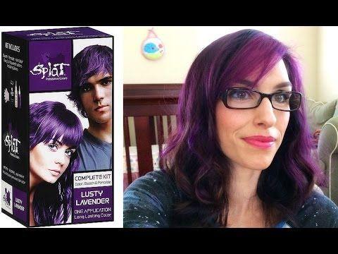 SPLAT Hair Dye Review and Demo Lusty Lavendar - YouTube