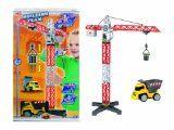 #Giochiegiocattoli #6: Dickie Spielzeug 203463337 - Set gru con veicoli del cantiere, 67 cm, colore: Rosso/Bianco