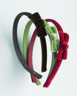 Velvet Bow Headband by Andrea's Beau