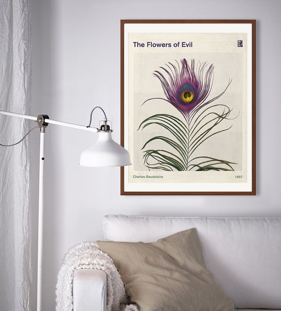 Charles Baudelaire The Flowers of Evil Large by RedHillPrintables