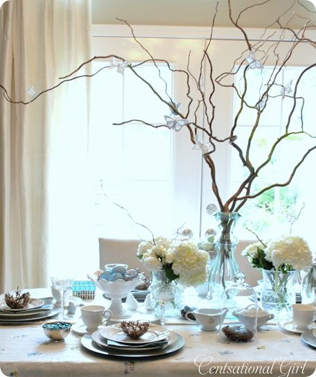 light blue white hues easter brunch