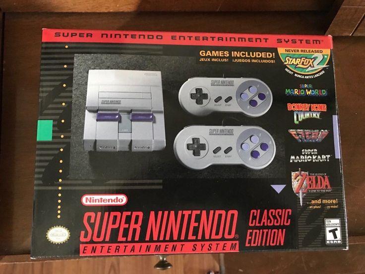 Super Nintendo Entertainment System: Super NES Classic Edition BRAND NEW: $70.00 (0 Bids) End Date: Monday Mar-12-2018 6:55:40 PDT Buy It…