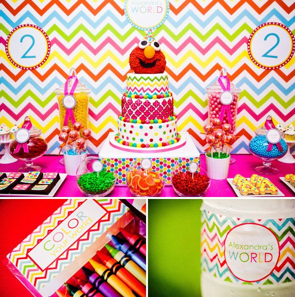 Girlie-Elmo-Birthday-Party- Festa Vila sésamo:6 TEMAS DIFERENTES PARA FESTAS INFANTIS! Temas de festa infantis divertidos e irreverentes para fugir do óbvio e do clichê no próximo festejo kids!