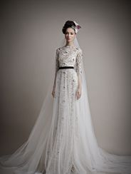 Ersa Atelier Kahina--this is very interesting for a bride who wants black and white.