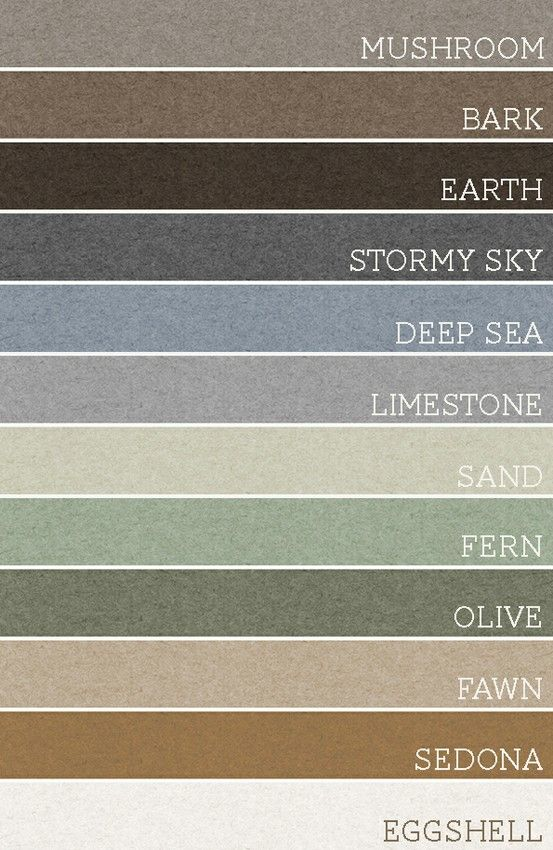 Take any set of 3 of these colors and each room would be amazing. A palette for the whole house