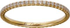 CRB4212000 - Étincelle de Cartier wedding band - Yellow gold, diamonds - Cartier
