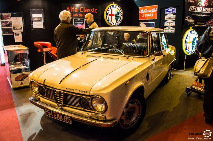 #Alfa_Romeo #Giulia #TI #Super au salon Retromobile à #Paris Reportage complet : http://newsdanciennes.com/2016/02/08/grand-format-retromobile-2016/ #Vintage #VintageCar