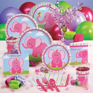 Pink Elephant Party Ideas | Home » Pink Elephants Baby Shower Party Supplies