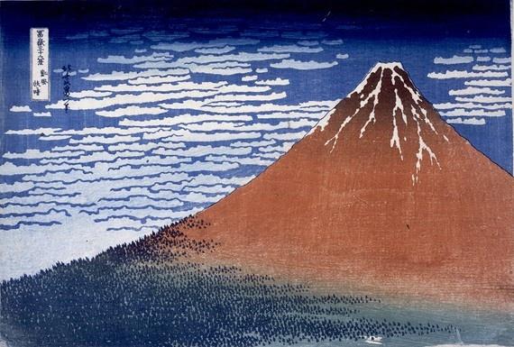 South Wind, Clear Sky, Katsushika Hokusai