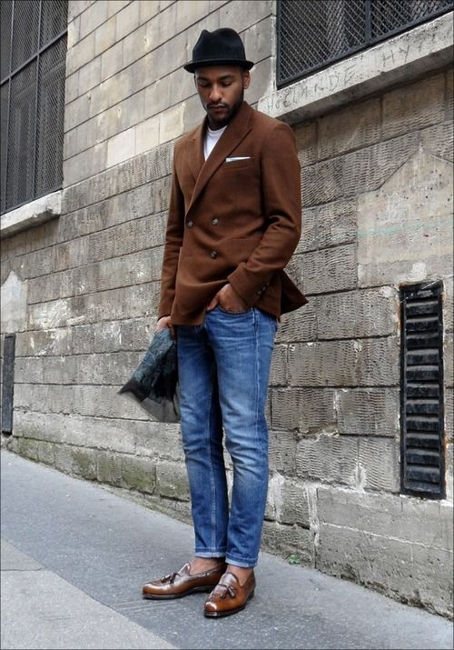 Don't need it to be double breasted but I'd like a brown blazer for the Fall/Winter.
