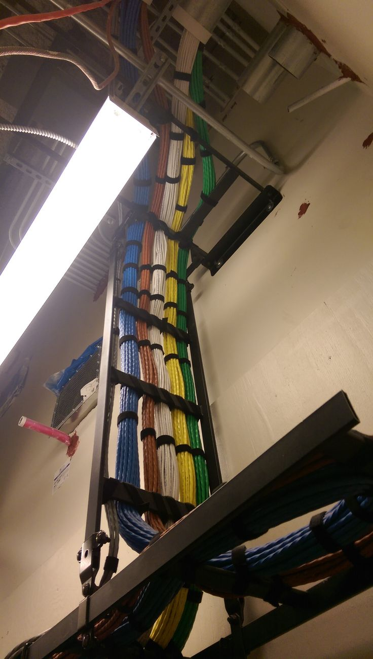 59 best wiring closet images on pinterest cable management beautifully run colorful cable management with velcro ties