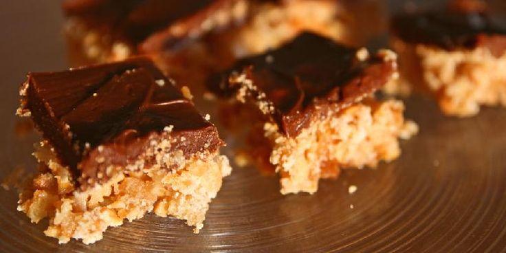 Snickerskake - Dette er den supre snickerskaka til Tom Victor Gausdal.