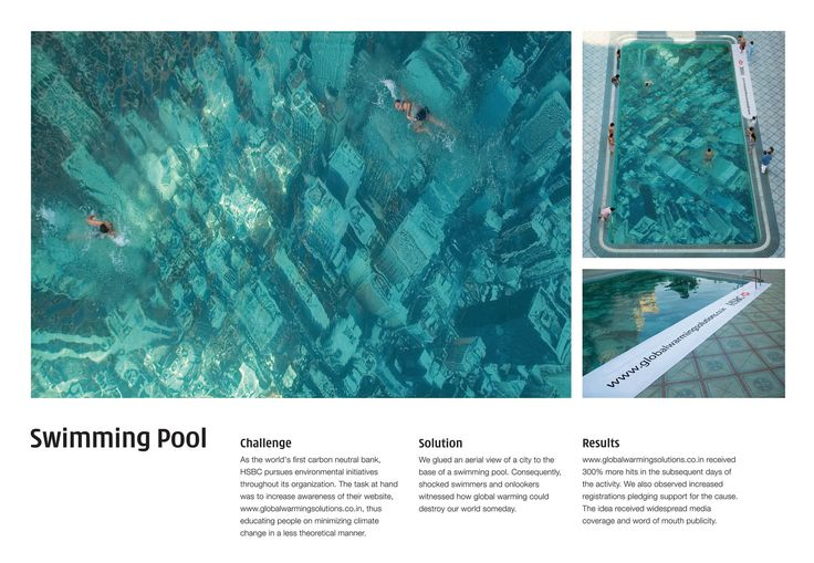 A freaky way to increase awareness on global warming for Virtual swimming pool design