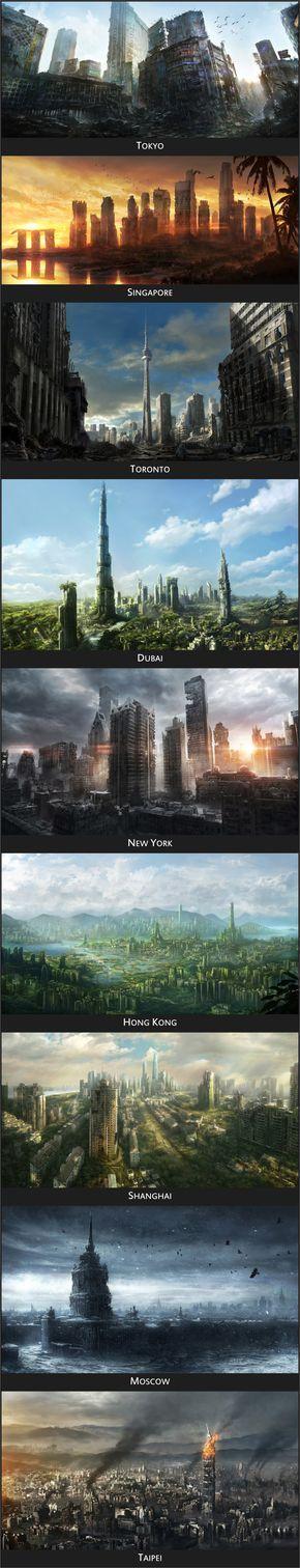 El mundo post-apocalíptico. Una maravilla estética!!!