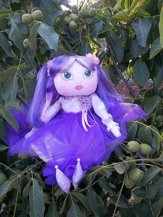 Maemi, Art Doll, cute doll, Original doll, handmade doll, cloth doll, hand painted doll face, romantic, little girl doll.