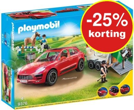 PLAYMOBIL PORSCHE MACAN GTS TRAILER – 9376 – Playmobil Sport Action – Playmobil …
