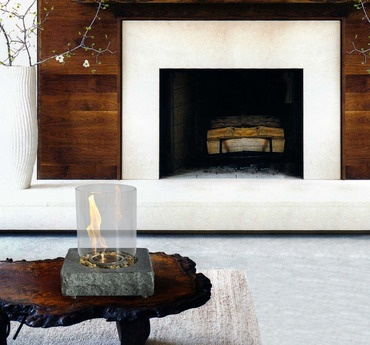 Matters of the Hearth: Fireplaces & Beyond  Turn the concept of the traditional fireplace on its ear with these freestanding designs. Whether you choose a tabletop fireplace, an evocative antiqued-finish firepot, or a bright glass firebowl, you'll be rewarded with a stylish — and eco-friendly — accent. We've also got some classic, clean-lined recliners, perfect for sitting and watching the flames flicker.