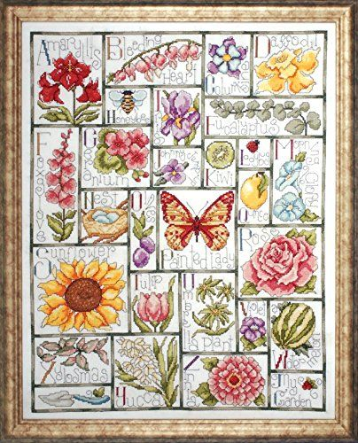 Floral ABC. Cross Stitch Kit by Design Works.