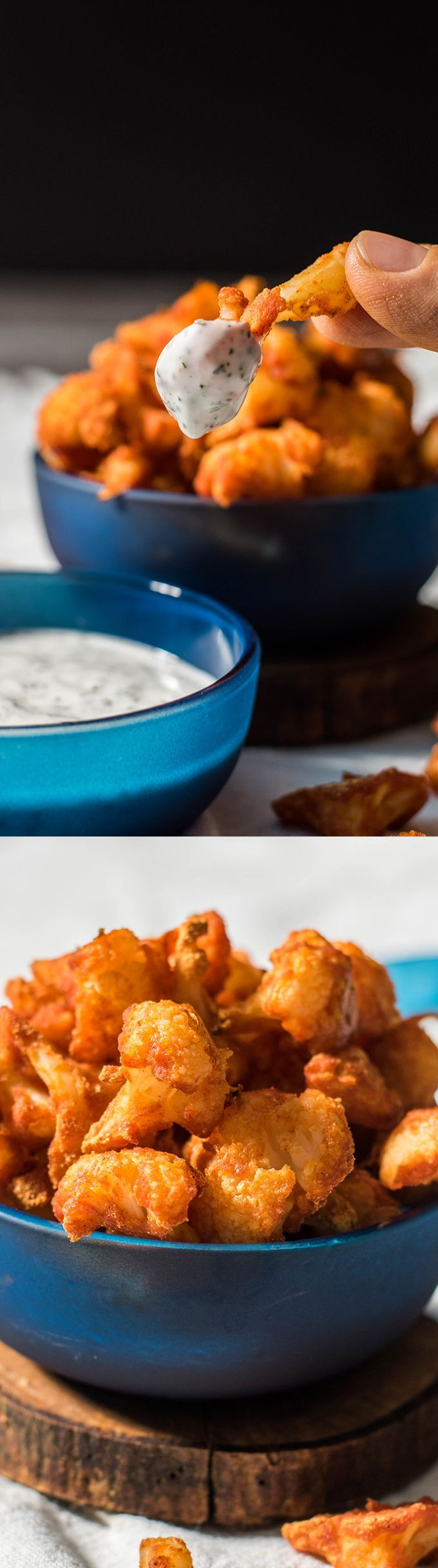 Skinny, spicy and scrumptious cauliflower wings. Perfect vegetarian alternative to hot wings. - http://giverecipe.com