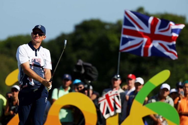 England's Rose claims gold in return of Olympic golf:  August 14, 2016  -      RIO DE JANEIRO, BRAZIL - AUGUST 14: Justin Rose of Great Britain plays his shot from the 16th tee during the final round of men's golf on Day 9 of the Rio 2016 Olympic Games at the Olympic Golf Course on August 14, 2016 in Rio de Janeiro, Brazil.