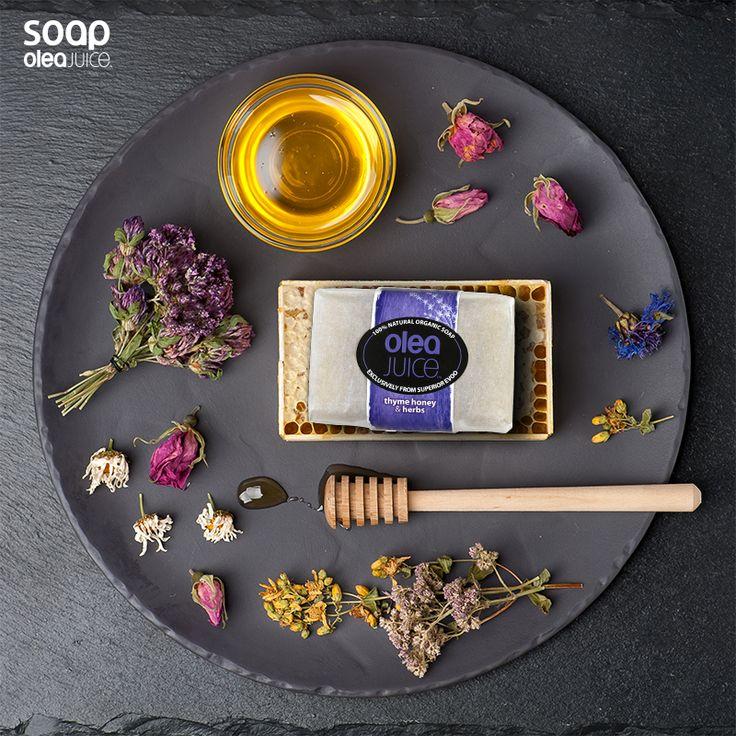 Το σαπούνι θυμαρίσιο μέλι και βότανα περιέχει συστατικά που επιτρέπουν στο δέρμα σας να αναζωογονηθεί. #organicsoap #soap #OrganicBarSoap