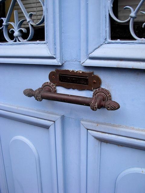 periwinkle blue door