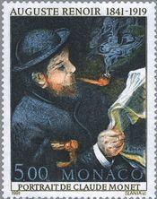 『画家モネ』(モナコ) ルノワール 印象派 Claude Monet Reading