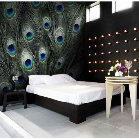 peacock bedroom decor blue peacock feather pattern wall murals peacock pattern 12811