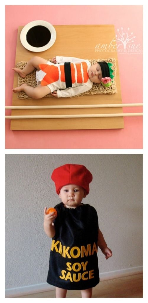 creative Halloween sibling costumes: Sushi and Soy Sauce   My Little Mookie