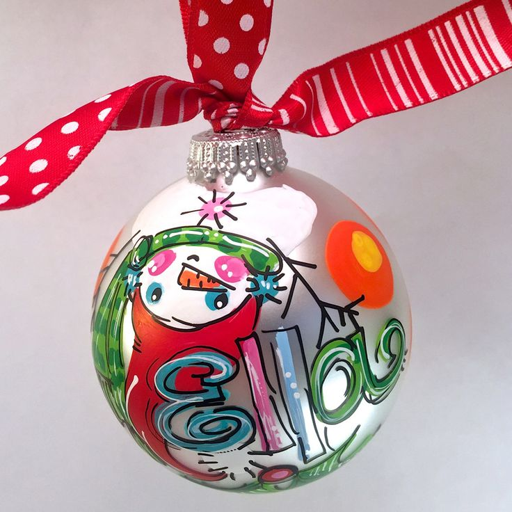 Snowman (upside down) Ornament, personalized