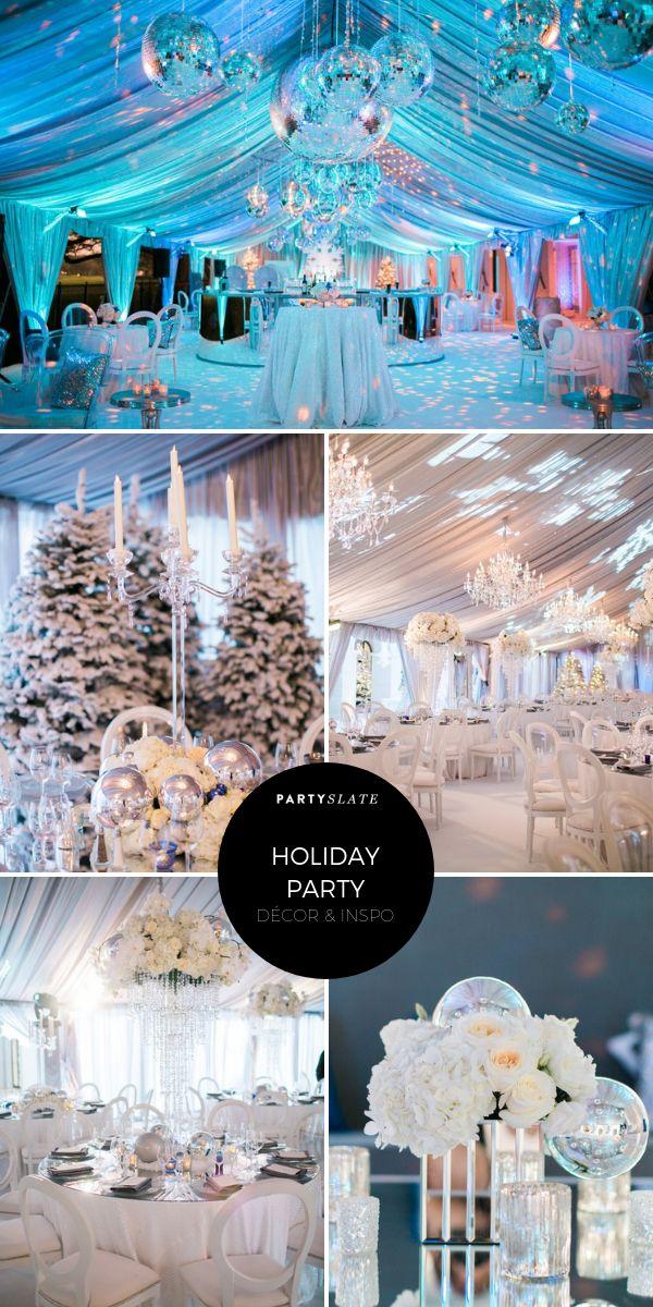 Diese atemberaubende Firmenfeiertagsfeier hatte Gäste, die in einem Winterwunderland spazieren gingen …   – Holiday Party Ideas