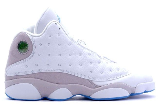 Air Jordan 13 ( White / Neutral Grey / University Blue )