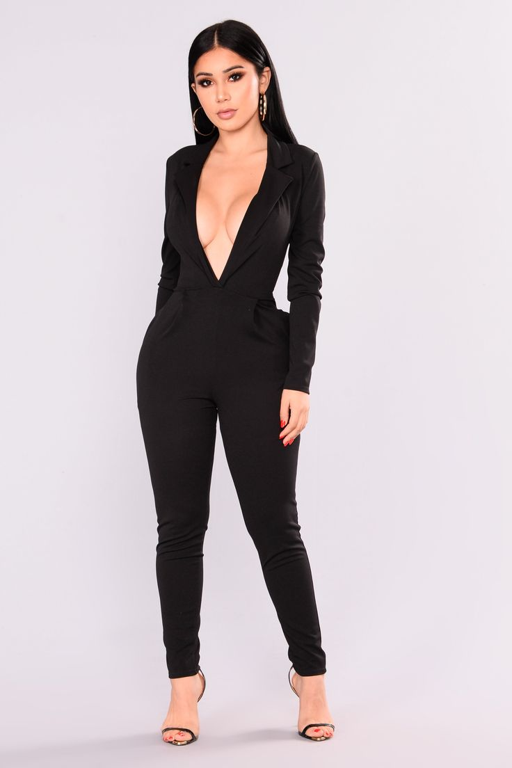 Hartford Tuxedo Jumpsuit Black Fashion Nova Jumpsuit