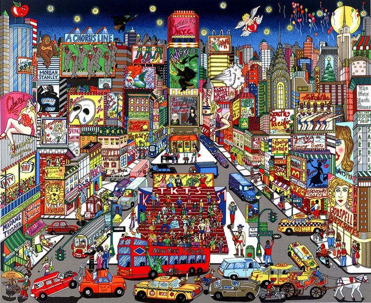 Singin' and Dancin' on the Great White Way // New York City Pop Art by Fazzino