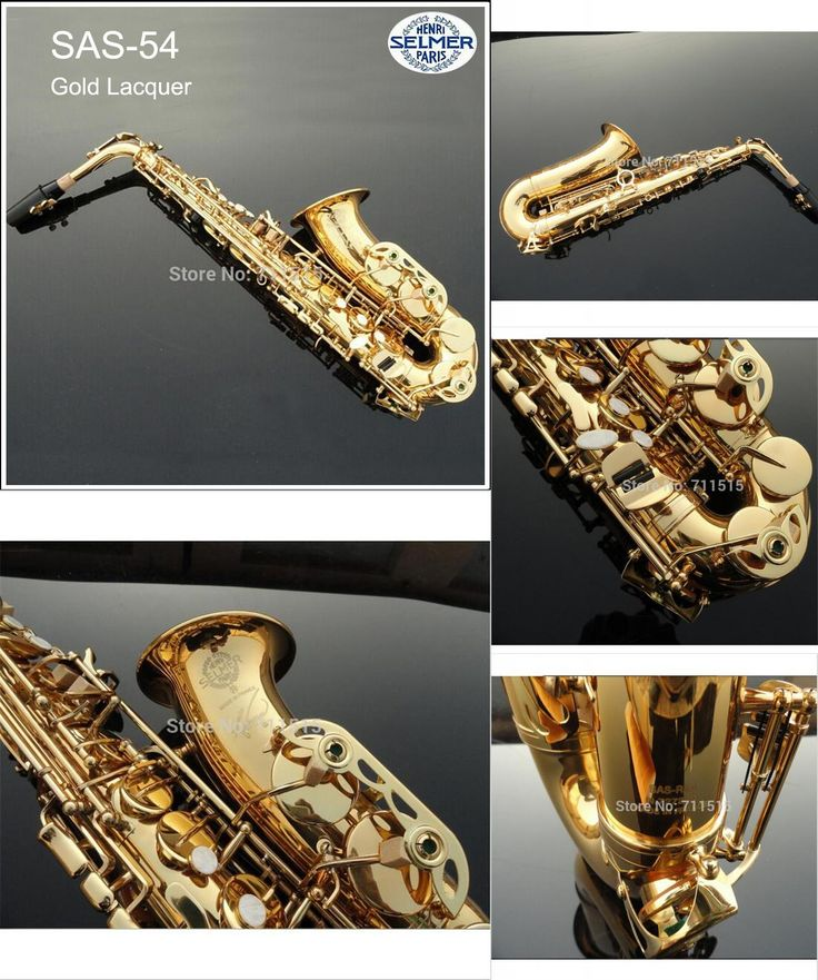 [Visit to Buy] Hot Sale Saxophone Alto Selmer Eb boquilha Saxophone R54 Mouthpiece Alto Sax Electrophoresis Professional Music Instrument Brass #Advertisement