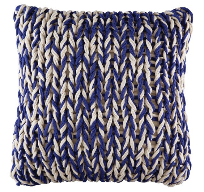 Kas Room Splice 48x48cm Filled Cushion Navy