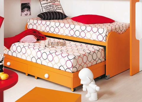 Nuvola Children S Bed With Pull Out Spare Two Beds In One